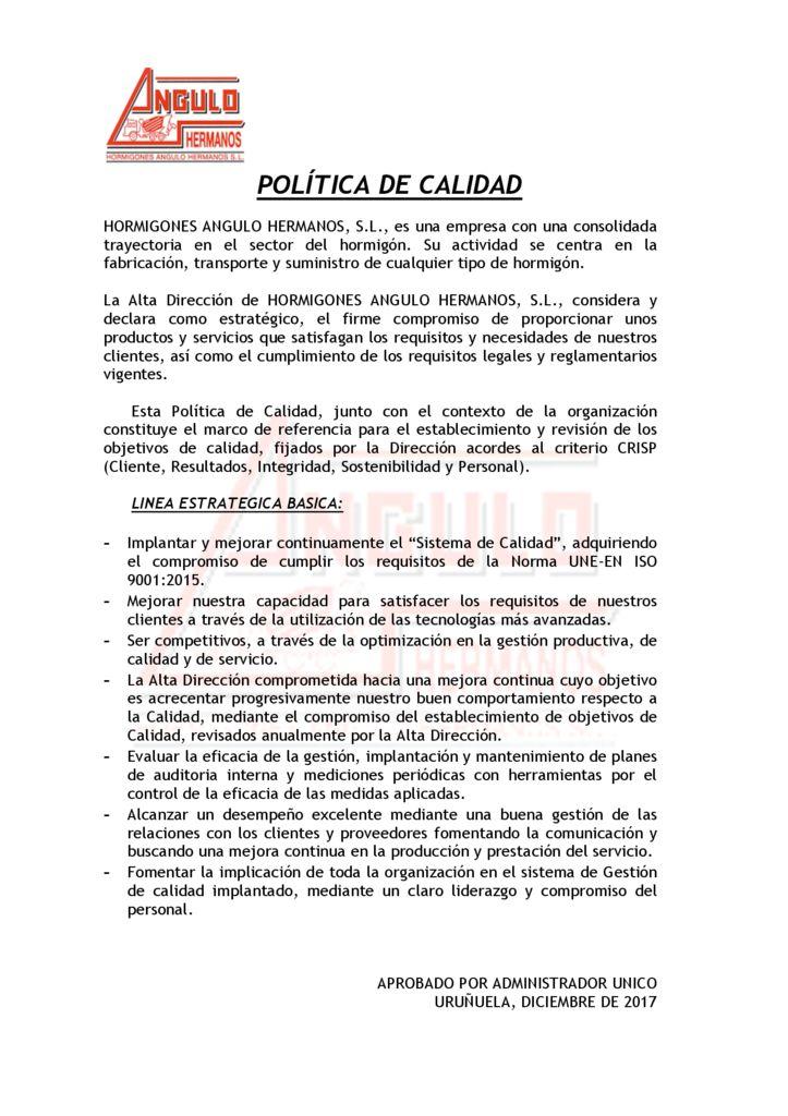 thumbnail of POLITICA DE CALIDAD – hormigones